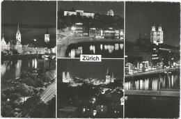 W4225 Zurich - Nacht Nuit Notte Night Noche / Viaggiata 1960 - ZH Zurich