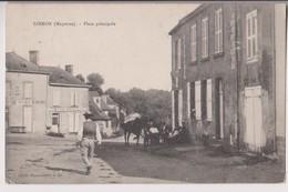 LOIRON (53) : PLACE PRINCIPALE - BOULANGERIE PATISSERIE HERIENNE - CLICHE PEU COURANT - ECRITE  EN 1906 -d 2 SCANS D- - Autres Communes