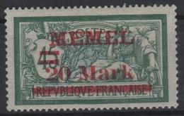 MEM 65 - MEMEL Merson N° 37 Neufs* Variété écart Entre Mark Et Barre De 1,45 Mm - Memel (1920-1924)