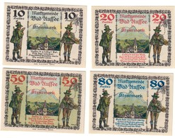 Austria Notgeld Lot / Set - BADAUSSE IN STEIERMARK X 4 - Austria