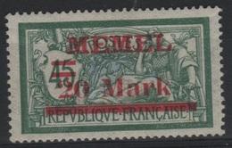 MEM 66 - MEMEL Merson N° 37 Neufs* Type IIa - Memel (1920-1924)