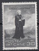 Vaticano 1961 Uf. 298 San Meinrado Nuovo MNH - Cristianesimo