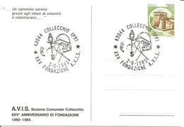 ITALIA - 1985 COLLECCHIO (PR) XXV Fondazione Donatori Sangue AVIS Su Cartolina Speciale - Altri