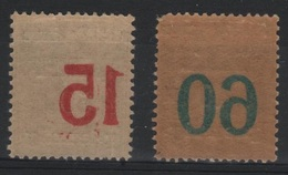 MEM 67 - MEMEL Semeuses N° 40/41 Neufs* VARIETE Impression Surcharge Recto-verso - Neufs