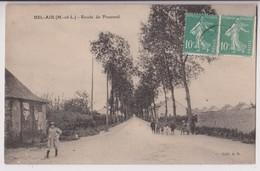 BEL AIR COMBREE (49) : ROUTE DE POUANCE - DES ECOLIERS - ECRITE  EN 1906 -d 2 SCANS D- - France