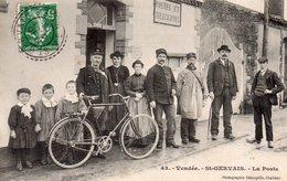 CPA De ST-GERVAIS - La Poste (SUPERBE!!!). - Sonstige Gemeinden