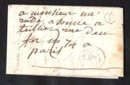FRANCE Précurseur (pli Complet) CHAMPIGUELLES Poste Rurale (V Dans Circle) 1850 CHARNY (83) Vers PARIS (60) - 1849-1876: Periodo Clásico