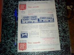 Vieux Papier Publicité Tract Fourneau Cuisinière Ariel à Coucy  Le Château  Aisne Annèe à Définir - Publicidad