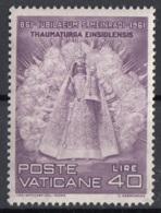 Vaticano 1961 Uf. 299 Madonna Nera Ensiedel - Scultura In Legno Nuovo MNH - Scultura