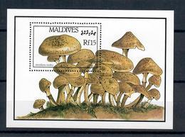 MALDIVE 1986 - FLORA - FUNGHI - FOGLIETTO  - MNH ** - Maldive (1965-...)