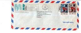 TRINIDAD & TOBAGO AFFRANCHISSEMENT COMPOSE SUR LETTRE POUR LA FRANCE 1974 - Trinidad Y Tobago (1962-...)