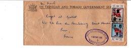 TRINIDAD & TOBAGO AFFRANCHISSEMENT COMPOSE SUR LETTRE POUR LA FRANCE 1973 - Trinidad Y Tobago (1962-...)