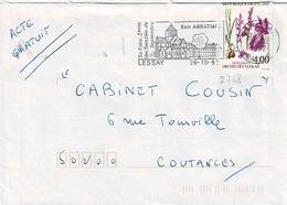 TP N° 2768 Seul Sur Enveloppe De Lessay - Marcophilie (Lettres)