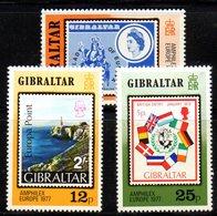 GIBILTERRA 1977 , Serie N. 364/366  MNH  ***  Europa Amphilex - Gibilterra
