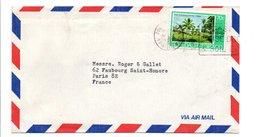TRINIDAD & TOBAGO LETTRE POUR LA FRANCE 1980 - Trinidad Y Tobago (1962-...)