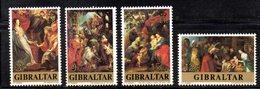 GIBILTERRA 1977 , Serie N. 367/370  MNH  ***  Natale Rubens - Gibilterra