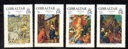 GIBILTERRA 1978 , Serie N. 384/387  MNH  ***  Natale Durer - Gibilterra