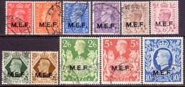 British Occupation Of Italian Colonies 1943-47 SG #M11-M21 Compl.set Used CV £27 - British Occ. MEF