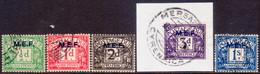 British Occupation Of Italian Colonies 1942 SG #MD1-MD5 Postage Due Compl.set Used CV £30 - British Occ. MEF