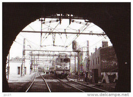 69 Carte Photo LYON PERRACHE Train Dans Le Tunnel De SAINTE IRENEE - Otros