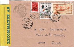 TP N° 2775, 2787 Et PA 58 Sur Enveloppe En Recommandé De Avranches (Sous Préfecture) - Marcophilie (Lettres)