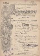 Foglio Di Congedo Illimitato. 1921. Regio Esercito Italiano. BATTAGLIONE MOBILE CARABINIERI REALI ROMA III° - Documentos