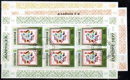 GIBILTERRA 1977 ,   Europa Amphilex : La Serie Di 3 BF Usati N. 5/7 - Gibilterra