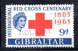 GIBILTERRA 1963 , Croce Rossa Il N. 161 Usato (2380A) - Gibilterra