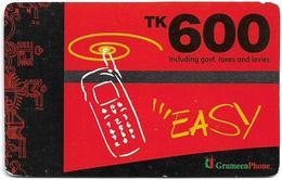 Bangladesh - Grameen Phone - Mobile Red, GSM Refill 600৳, Used - Bangladesh