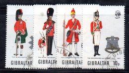 GIBILTERRA 1971 , Uniformi Serie N. 274/277 Usato (2380A) - Gibilterra