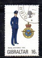 GIBILTERRA 1974 , Uniformi N. 311 Usato (2380A) Royal Air - Gibilterra