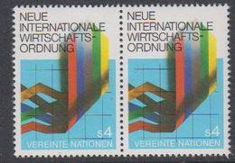 UNO Vienna 1980 Neue Internationale Wirtschaftordnung 1v (pair) ** Mnh (44110) - Ongebruikt