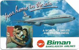 Bangladesh - Telephone Shilpa Sangstha (Urmet) - Biman Bangladesh Airlines, 1994, 200Units, 120.000ex, Used - Bangladesh