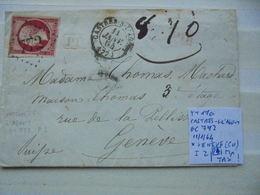 Francia. Marcophilie. YT 17a. Description. 3 Photos - Postmark Collection (Covers)