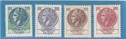 """FR.NU.0188E - REPUBBLICA 1968 - """"ITALIA TURRITA"""" 4 V. Nuovi** L.100,120,150 E 400 - 6. 1946-.. República"""