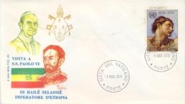 Vatican City 1970 Souvenir Cover Visit Of The Emperor Of Ethiopia Hailé Selassié - Papi