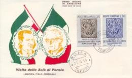 Italia Italy 1958 FDC Visita Dello Scià Di Persia Visit Of The Sciahinsciah Of The Iran Mohammad Reza Pahlavi - Case Reali