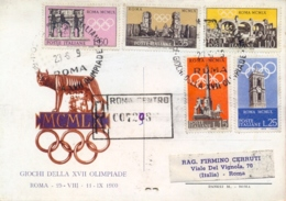 Italia Italy 1959 FDC Registered Postcard Summer Olympic Games 1960 In Rome Giochi Olimpici Estivi A Roma - Estate 1960: Roma