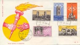 Italia Italy 1959 FDC RE.RU. Giochi Olimpici Estivi A Roma Summer Olympic Games 1960 In Rome - Estate 1960: Roma