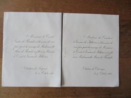 CHÂTEAU DE FREGARET ET DE CARROUGES LE 4 OCTOBRE 1881 LE COMTE LE VENEUR DE JILLIERES ET Mlle MARIE DE PREAULX - Wedding
