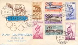 Italia Italy 1960 FDC RODIA XVII Giochi Olimpici A Roma 17th Summer Olympic Games In Rome - Estate 1960: Roma