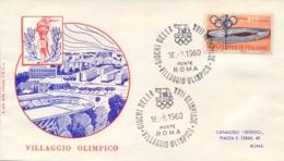 Italia Italy 1960 Annullo Speciale Su Busta 16 Agosto Roma Villaggio Olimpico XVII Giochi Olimpici 17th Olympic Games - Estate 1960: Roma