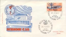 Italia Italy 1960 Annullo Speciale Su Busta 20 Agosto Roma Sessione CIO XVII Giochi Olimpici 17th Olympic Games - Estate 1960: Roma