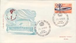 Italia Italy 1960 Annullo Speciale Su Busta 21 Agosto Roma Palazzo Dei Congressi XVII Giochi Olimpici 17th Olympic Games - Estate 1960: Roma
