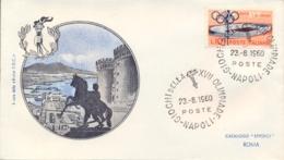 Italia Italy 1960 Annullo Speciale Su Busta 23 Agosto Napoli Fiaccola Olimpica XVII Giochi Olimpici 17th Olympic Games - Estate 1960: Roma
