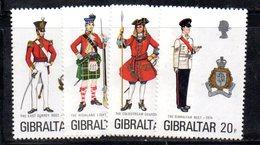 GIBILTERRA 1975 , Uniformi Serie N. 316/319  MNH  *** - Gibilterra
