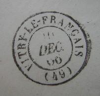 Erreur ? Vitry Le Français Sur Lettre De 1866 Au Lieu De Vitry Le François (Marne) Avis Aux Spécialistes ! - Marcophilie (Lettres)