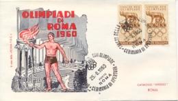Italia Italy 1960 Annullo Su Busta 25 Agosto Roma Cerimonia Di Apertura XVII Giochi Olimpici 17th Olympic Games - Estate 1960: Roma