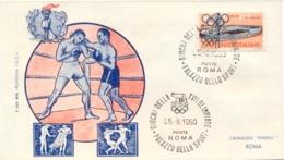 Italia Italy 1960 Annullo Speciale Su Busta 25 Agosto Roma Palazzo Dello Sport XVII Giochi Olimpici 17th Olympic Games - Estate 1960: Roma