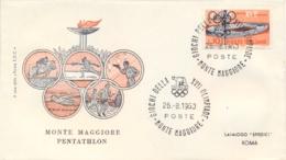 Italia Italy 1960 Annullo Speciale Su Busta 26 Agosto Roma Monte Maggiore XVII Giochi Olimpici 17th Olympic Games - Estate 1960: Roma